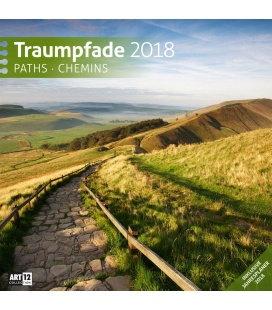 Nástěnný kalendář Cesty / Traumpfade 30x30 2018