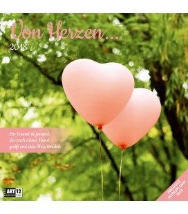 Nástěnný kalendář Ze srdce / Von Herzen 30x30 2018