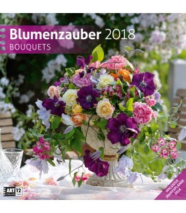 Nástěnný kalendář Kouzlo květin / Blumenzauber 30x30 2018