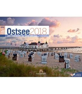 Nástěnný kalendář Cestování Pobaltím / Ostsee ReiseLust 2018