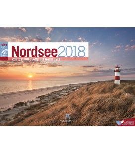 Nástěnný kalendář Cestování po pobřeží Severního moře / NordseeReiseLust 2018