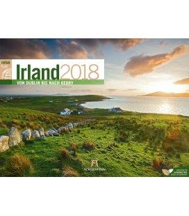Nástěnný kalendář Cestování po Irsku / Irland ReiseLust 2018