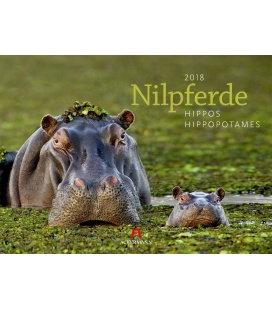 Nástěnný kalendář Hroši / Nilpferde 2018