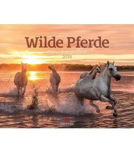 Nástěnný kalendář Divocí koně / Wilde Pferde 2018