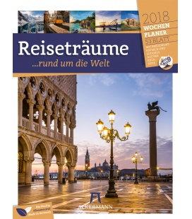 Nástěnný kalendář Sny o cestování - týdenní plánovač / Reiseträume 2018 - Wochenplaner