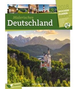 Nástěnný kalendář Německo - týdenní plánovač / Deutschland 2018 - Wochenplaner