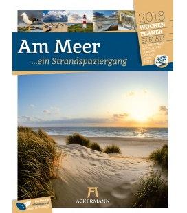 Nástěnný kalendář Pobřeží - týdenní plánovač /Am Meer 2018 - Wochenplaner