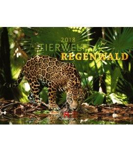 Nástěnný kalendář Fauna deštného pralesa / Tierwelt Regenwald 2018