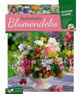 Nástěnný kalendář Květinové dekorace - týdenní plánovač / Blumendeko 2018 - Wochenplaner