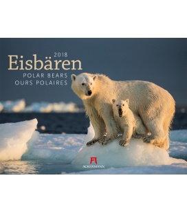 Nástěnný kalendář Lední medvědi / Eisbären 2018