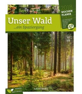 Nástěnný kalendář Krásy lesa - týdenní plánovač / Unser Wald 2018 - Wochenplaner