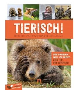 Nástěnný kalendář Zvířata - týdenní plánovač / Tierisch! 2018 - Wochenplaner