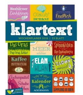 Nástěnný kalendář Texty - týdenní plánovač / Klartext 2018 - Wochenplaner