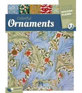 Nástěnný kalendář Ornamenty - týdenní plánovač / Ornaments 2018 - Wochenplaner