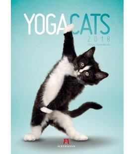 Nástěnný kalendář Yoga Cats 2018