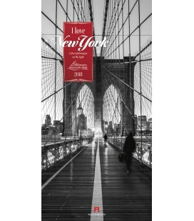 Wandkalender I love New York 2018