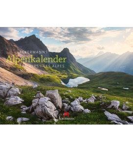 Nástěnný kalendář Alpy / Ackermanns Alpenkalender 2018