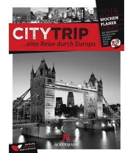 Nástěnný kalendář Evropská města - týdenní plánovač / CityTrip Europa 2018 - Wochenplaner