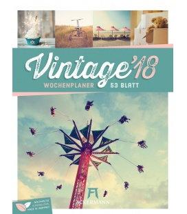Nástěnný kalendář Vintage - týdenní plánovač / Vintage 2018 - Wochenplaner