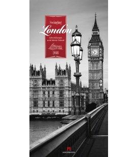 Nástěnný kalendář Londýn / Swinging London 2018