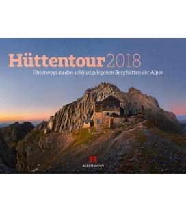 Nástěnný kalendář Horské chaty / Hüttentour 2018