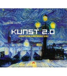 Nástěnný kalendář Umění 2.0 / Kunst 2.0 2018