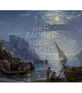 Nástěnný kalendář Kouzlo noci / Der Zauber der Nacht 2018