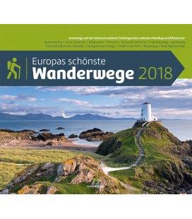 Nástěnný kalendář Nejkrásnější evropské turistické stezky / Europas schönste Wanderwege 20