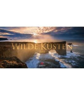 Nástěnný kalendář Divoká pobřeží / Wilde Küsten 2018