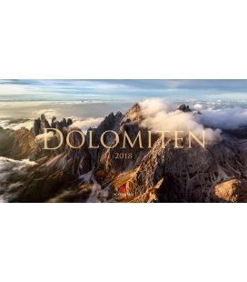 Nástěnný kalendář Dolomity / Dolomiten 2018