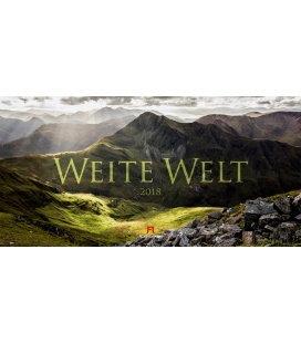 Nástěnný kalendář Panorama / Weite Welt 2018