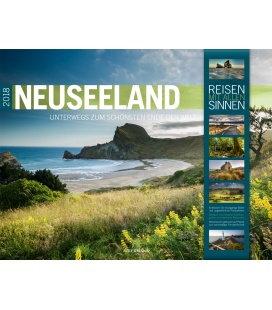 Nástěnný kalendář Nový Zéland / Neuseeland 2018