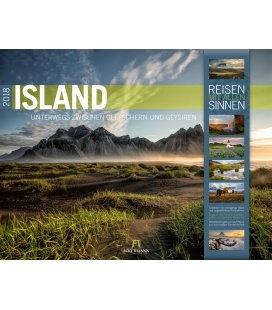 Nástěnný kalendář Island 2018