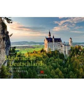 Nástěnný kalendář Malebné Německo / Malerisches Deutschland 2018
