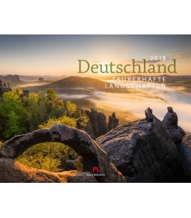 Nástěnný kalendář Německo - okouzlující krajiny / Deutschland - Zauberh. Lands. 2018