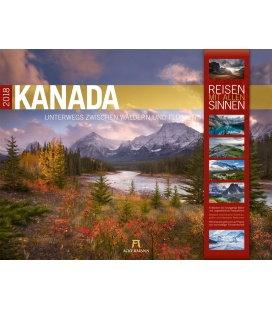 Nástěnný kalendář Kanada 2018