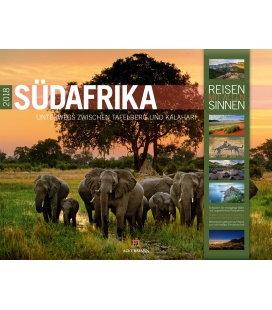 Nástěnný kalendář Jižní Afrika / Südafrika 2018
