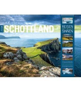 Nástěnný kalendář Skotsko / Schottland 2018