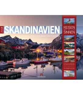 Nástěnný kalendář Skandinávie / Skandinavien 2018