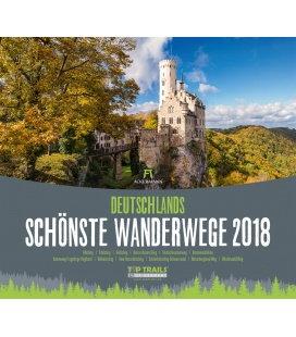 Wall calendar Deutschl. schönste Wanderwege 2018