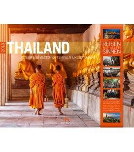 Nástěnný kalendář Thajsko / Thailand 2018