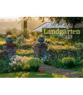 Nástěnný kalendář Kouzlo zahrad / Zauberhafte Landgärten 2018