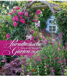 Nástěnný kalendář Rajské zahrady / Paradiesische Gärten 2018