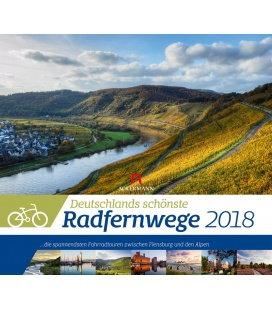 Nástěnný kalendář Nejkrásnější německé dálkové cyklotrasy /Deutschlands schö. Radfernwege