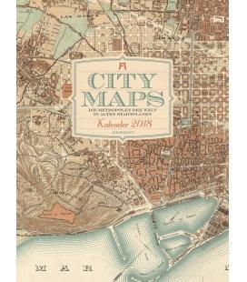 Nástěnný kalendář Mapy měst / City Maps 2018