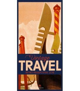 Nástěnný kalendář Archivní plakáty z cest / Vintage Travel Posters 2018