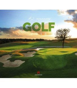 Nástěnný kalendář Golf 2018