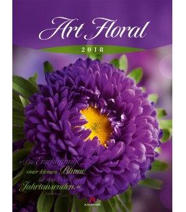 Nástěnný kalendář Květiny / Art Floral 2018