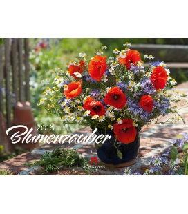 Wandkalender Blumenzauber 2018