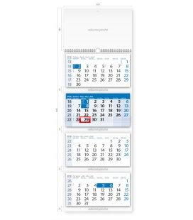 Nástěnný kalendář Čtyřměsíční modrý 2018